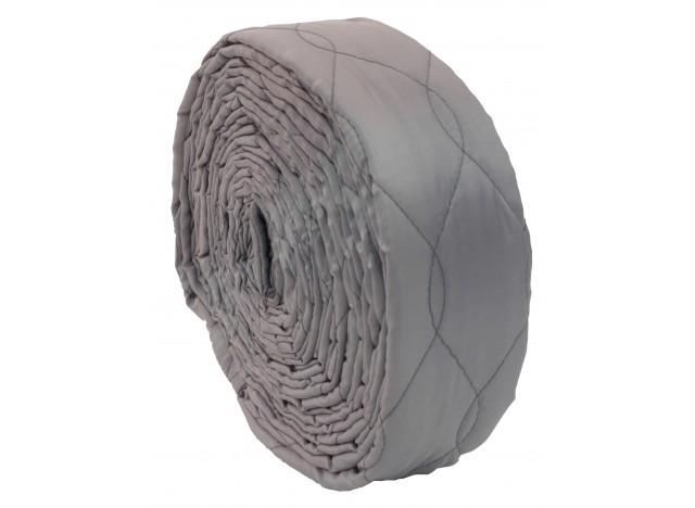 Housse pour boyau d'aspirateur central de 30' (9 m) - coussinée - avec fermeture éclair - gris - VacSoc - VS-PZGY30