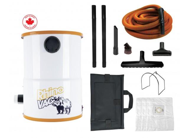 Aspirateur utilitaire compact d'atelier et de garage de RhinoVac avec accessoires