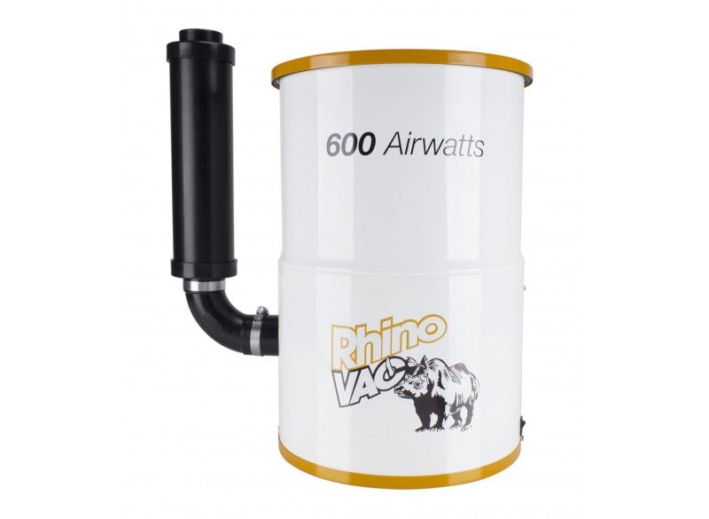 Compact Central Vacuum from RhinoVac 600 Airwatts